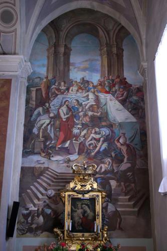 Nozze di Cana, 1958, affresco, Petritoli, Chiesa di S. Maria in Piazza