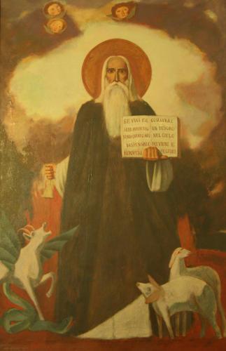 S. Antonio da Padova, 1972, olio su tela, cm 102x165, Castel di Lama, Chiesa di S. Antonio da Padova