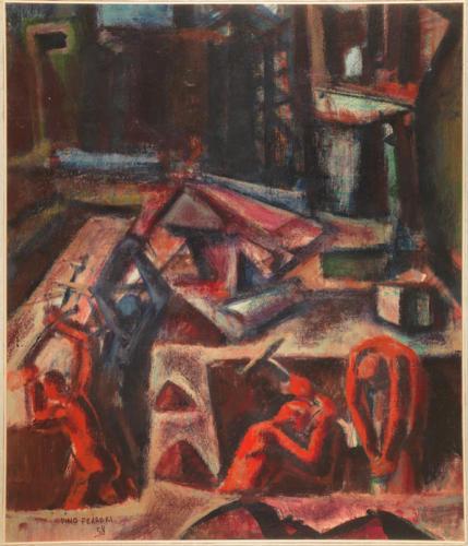 Assalto alla città, olio su tela, Firenze, Galleria d'Arte Moderna di Palazzo Pitti
