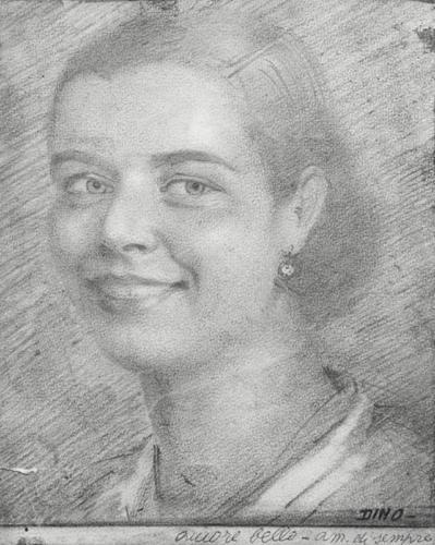 Ritratto di Anna Maria Gezzi, moglie di Dino Ferrari